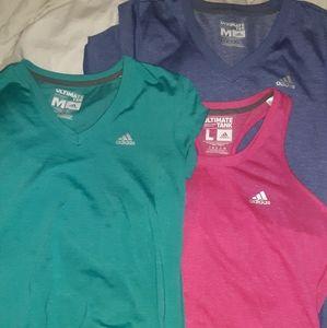 Adidas shirts and tank!!!